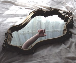 alternative, mirror, and bed image