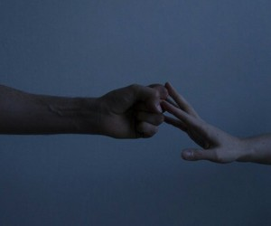 hands, blue, and touch image