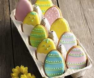 biscuits, easter cookies, and cookie decorating image