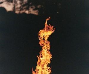 fire, night, and dark image
