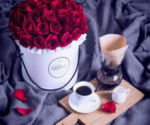 coffe, red, and любовь image