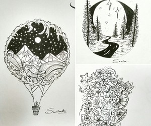 art, artist, and black and white image