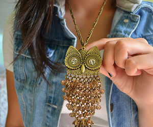 fashion, owl, and necklace image