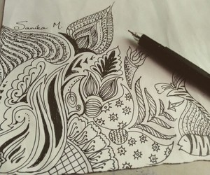 art, artist, and doodle image