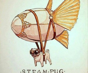 art, pug, and steampunk image