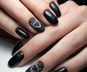 nails, black, and fox image
