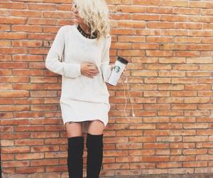 coffee, fashion, and model image
