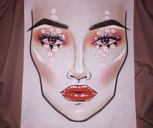 artistic, contour, and daisies image