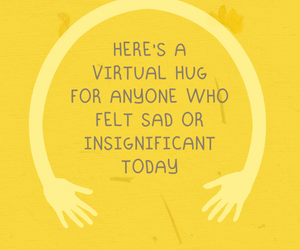 hug, quotes, and yellow image