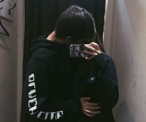 aesthetic, couple, and dark image