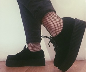 creepers, emo, and fishnet image