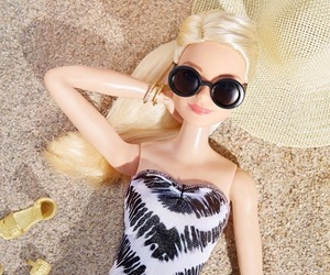 barbie, beach, and summer image