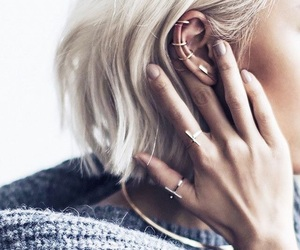 fashion, hair, and piercing image
