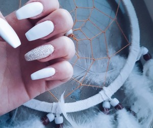 dreamcatcher, white, and nails image