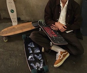 boy, aesthetic, and skate image