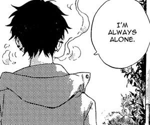 manga, black and white, and beauty image