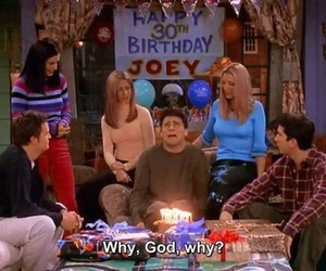 Joey, friends, and birthday image