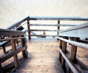 photography, beach, and stairs image