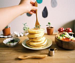 food, pancakes, and vintage image