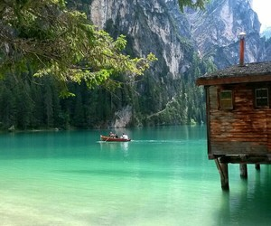 boat, italien, and nature image