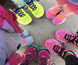 fitness, running, and running shoes image