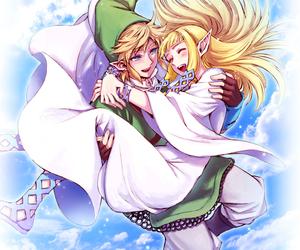 link, zelda, and fanart image