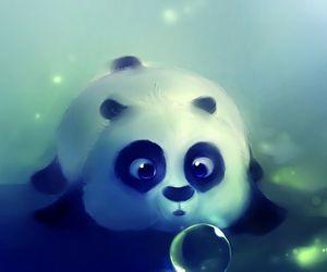 panda and bubbles image