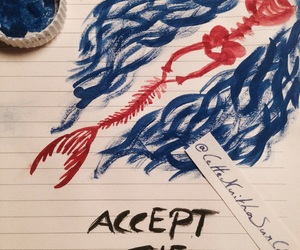 accept, art, and blue image