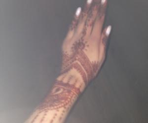 blurry, henna, and white nails image