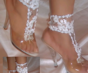 etsy, anklets, and white sandals image