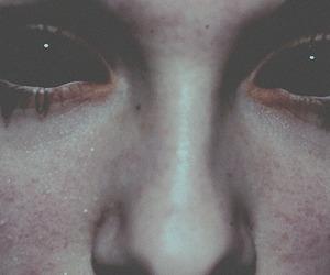 eyes, black, and dark image
