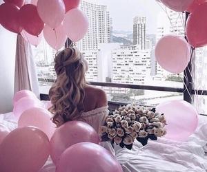balloons, tan, and birthday image