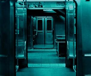 subway, train, and black and white image