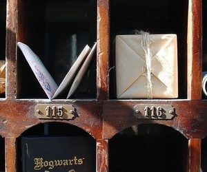 hogwarts, harry potter, and mail image