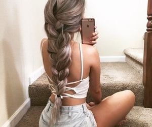 braid, grey, and photography image