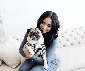 demi lovato and dog image