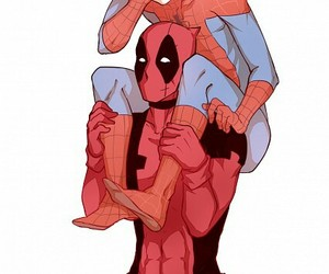 bl, deadpool, and spider-man image
