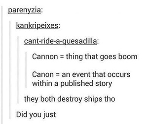 canon, ship, and funny image