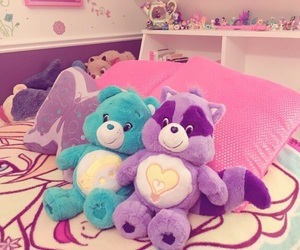 bed, care bears, and plush image