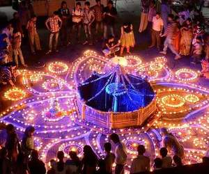 beauty, colourful, and divali image