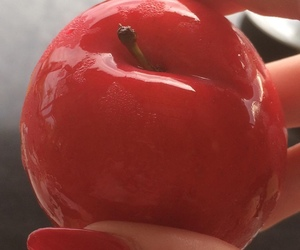 red, aesthetic, and fruit image