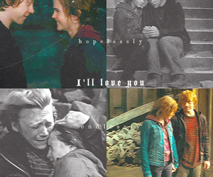 harry potter, Hermione and Ron, and hermione granger image