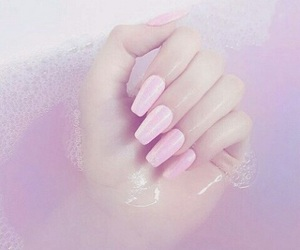 nails, pastel, and pink image