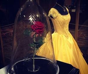 beauty and the beast, dress, and fashion image
