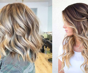 hairstyle, ombre, and balayage image
