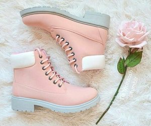 in love, rose, and timberland image