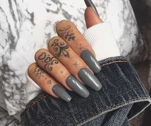 acrylics, fashion, and long nails image