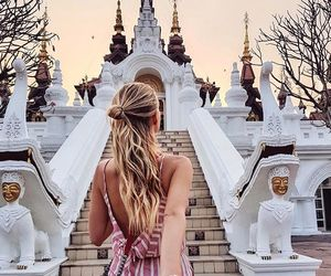 travel and blonde image