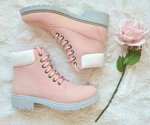 flower, rose gold, and pink image