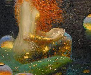 fantasy, lights, and mermaid image